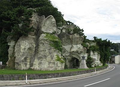 猿神鼻の洞門