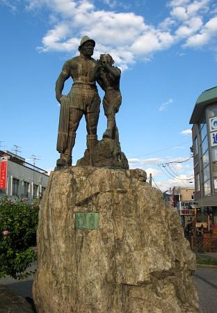 登頂(穂高駅前)