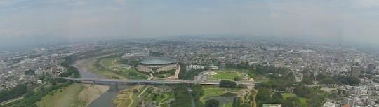 群馬県庁展望台からの眺望