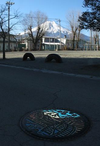 富士山と蓋