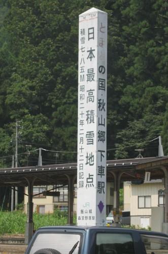 日本最高積雪地点