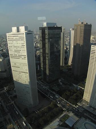 東京都庁第一本庁舎南展望室からの眺望