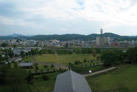 小峰城三重櫓からの眺望