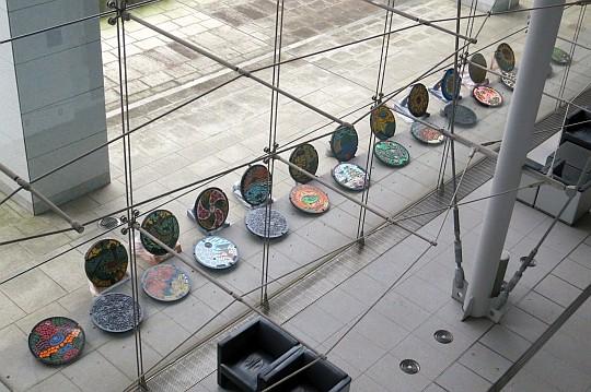茨城県県庁本庁舎の鉄蓋展示