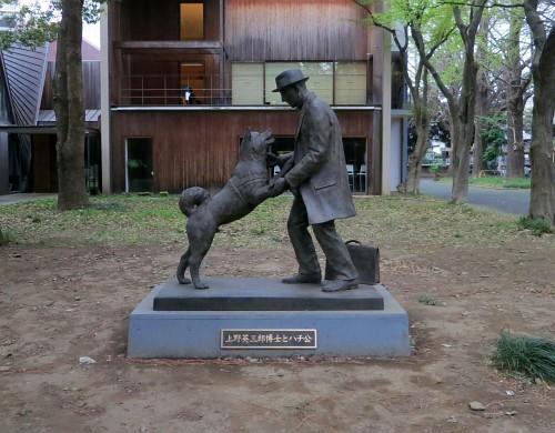 上野英三郎博士とハチ公像
