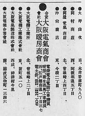 大阪商工同業名鑑 金属品之部 大正14年度